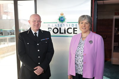 Jane Kennedy with the Chief Constable