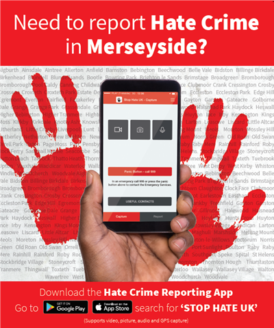 Need to report Hate Crime in Merseyside