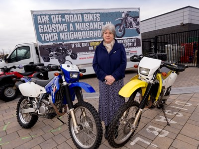 Jane Kennedy with nuisance bikes