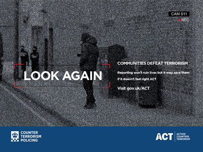 Counter terrorism policing poster