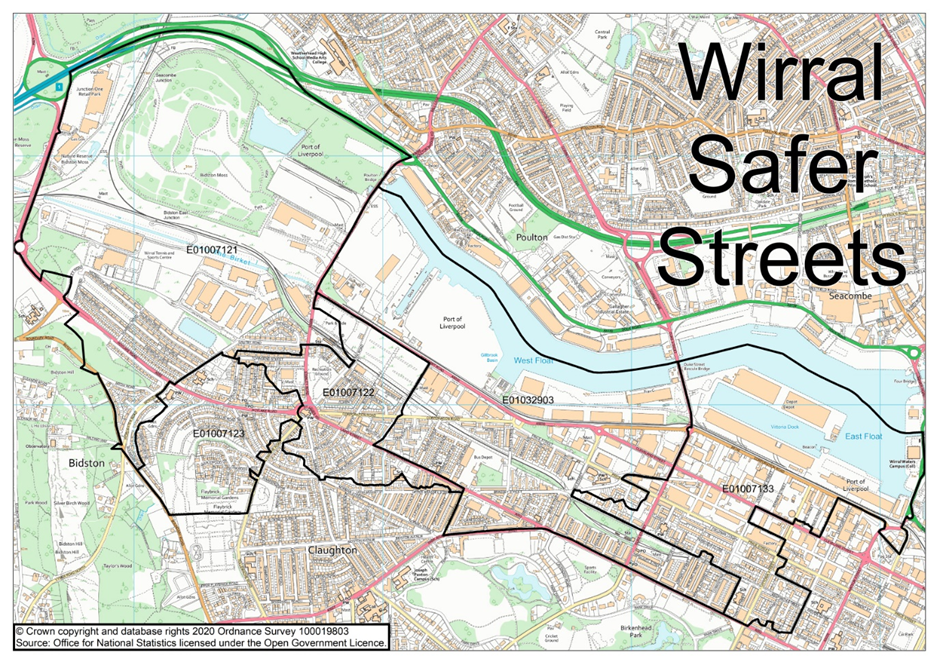 Map Birkenhead Safer Streets Bid