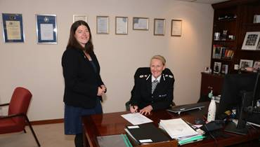 PCC Emily Spurrell and the Chief Constable Serena Kennedy